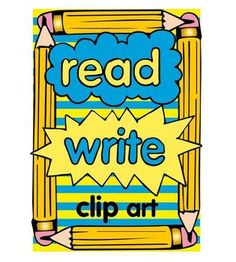 Read and write clip art  more than 50 images download the preview and get FREE book images