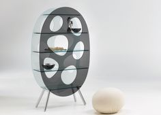 Lotus is an unusual shaped two-tone glass display unit designed by Karim Rashid for Tonelli Design. Art Furniture, Glass Furniture, Design Furniture, Contemporary Furniture, Luxury Furniture, Funny Furniture, House Furniture, Furniture Stores, Cheap Furniture