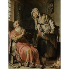 Tobit And Anna With The Kid Canvas Art - (24 x 36)