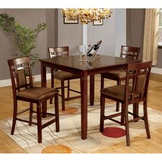 Shop Furniture Of America CM3930PT 5PK Montclair Counter Height Dining Set  At ATG Stores.