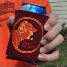 the only thing that would make this better is if the coozie was holding a Foster's beer :)