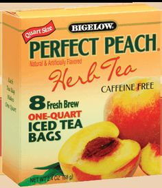 Perfect Peach large iced tea bags