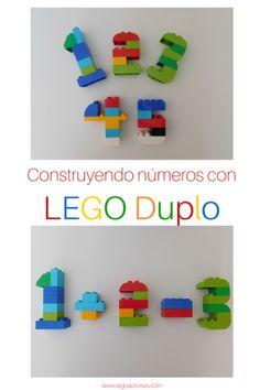 Construyendo números con LEGO Duplo es una actividad excelente para los niños aprender los números. Visítanos en: legoactivities.com