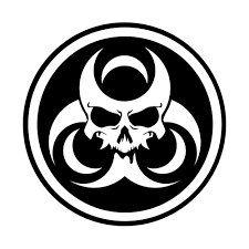 BioHazard skull vinyl decal - For Cars Laptops Sticker Mirrors etc. Sketch Tattoo Design, Tattoo Sketches, Tattoo Designs, Skull Stencil, Skull Art, Skull Tattoos, Sleeve Tattoos, Car Decals, Vinyl Decals