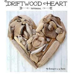 Tutorial for how to make a driftwood heart by Simplicity In The South