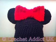 Mouse Hat with bow ~ Crochet Addict UK