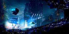Futuristic Cityscape by Robert Williams #scifi #cyberpunk