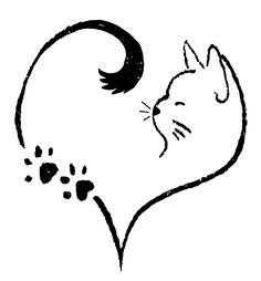 Pebble Painting, Stone Painting, Simple Cat Drawing, Cat Tattoo Designs, Cute Small Tattoos, Cat Quilt, Rock Decor, Cat Design, Rock Art