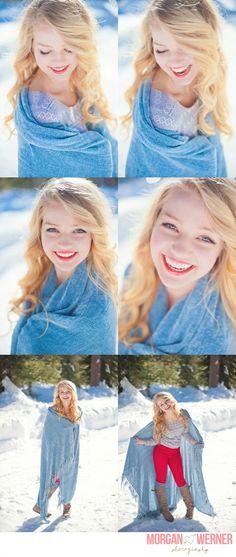 Morgan Werner Senior Photography | Senior in the Snow - amazing senior photography!!