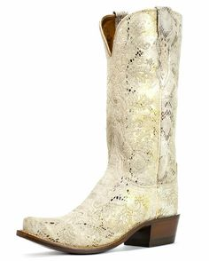 Lucchese Women's Stone Python Print S5 Toe Boot. $380.95 via Country Outfitter. Beautiful and unique design to go with my future unique wedding attire :) I will be getting these!