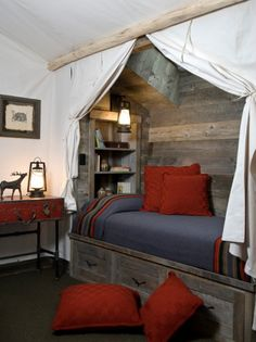 "The look I'm going for with the ""lodge"" bedroom"