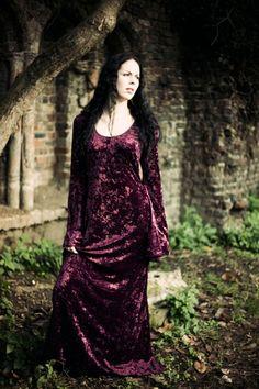 329 - Wine Velvet Alchemy Dress | The Dark Angel Design Co | I Am Attitude