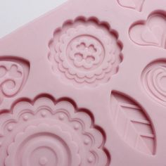 Folk Designs Flower Birds Silicone Mould Cake Mold