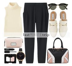 """Last minute trip"" by alaria ❤ liked on Polyvore featuring Uniqlo, Steve Madden, Ray-Ban, Marc Jacobs, Elodie, Olivia Burton, NARS Cosmetics and lastminutetrip"