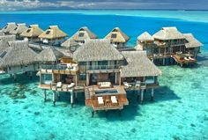 Hilton, Bora Bora - One of the Top 5 hotels on this weeks #TravelPinspiration on our blog: http://www.ytravelblog.com/travel-pinspiration-top-5-accommodation-photos-on-pinterest/