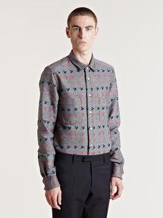 Sidian Ersatz And Vanes Men's Woven Pattern Shirt