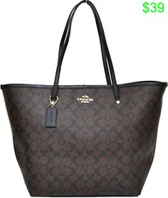 9e13b2594d73 Coach Signature Large Taxi Tote Bag (Brown  Black) Coach Tote Bags