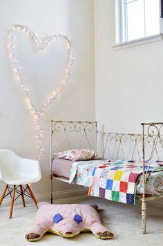 heart light in child's room by Rubyellen Bratcher // CAKIES
