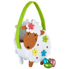 Harrods Easter Greetings Chocolate Eggs Sheep Bag (145g) ($15) ❤ liked on Polyvore featuring bags, handbags, chocolate handbags, harrods bag, chocolate purses, harrods handbags and chocolate brown purse