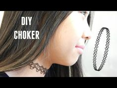 DIY Tattoo Choker Necklace - YouTube