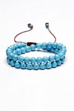 Turquoise Bead Bracelet.