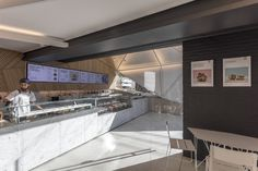 Image 16 of 34 from gallery of Goodsten / Hitzig Militello Arquitectos. Photograph by Federico Kulekdjian Light Colored Granite, Precast Concrete, Granite Slab, Lighting System, Another World, How To Level Ground, Decoration, House Design, Interior Design