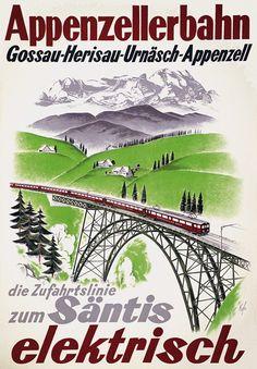 Appenzellerbahn - die Zufahrtslinie zum Säntis. Gossau - Herisau - Urnäsch - Appenzell. Kagler. 1935.