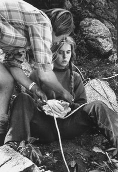 Mental patient Teresa Samford from Oregon State Hospital during camping trip.         Location:    OR, US        Date taken:    1972        Photographer:    Bill Eppridge