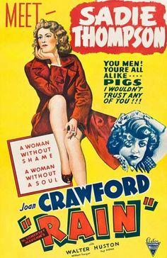Joan Crawford as Sadie Thompson in Rain, 1932