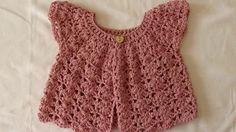 crochet girl sweater - YouTube