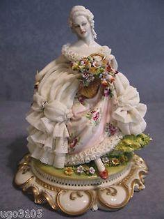 Capo di monte collectibles price guide beautiful dresden lace porcellana di capodimonte dama con cesto di fiori thecheapjerseys Gallery