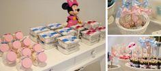 Aniversário da Minnie   Detalhes em azul e rosa