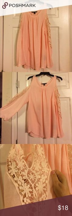 Zac & Rachel Blouse Beautiful....excellent condition ......cold shoulder....no flaws.....Intricate lace work on sleeves....Love it! Zac & Rachel Tops Blouses