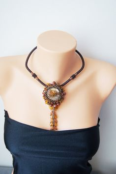 Brown Statement Necklace Brown  Ombre Necklace #handmade #shoes #bracelet #necklace #earrings