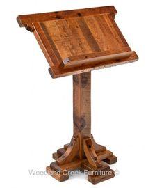 Custom Made Wood Podium