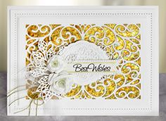 Best Wishes sentiment card design made using the beautiful Scandinavian range from Creative Expressions! Shop now at C+C: http://www.createandcraft.tv/search/creative%20expressions?fh_location=//CreateAndCraft/en_GB/$s=creative%20expressions&gs=creative%20expressions #cardmaking #papercraft