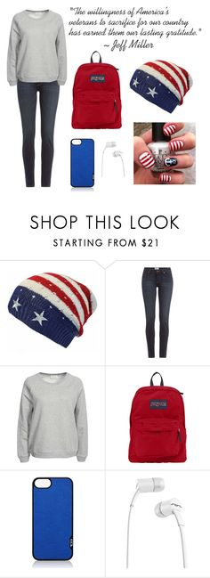 """Happy Veteran's Day!"" by marinator13 ❤ liked on Polyvore featuring Paige Denim, American Vintage, JanSport, Tumi, SOL Republic, america, proud and veteransday"