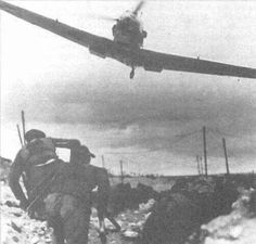 Bf-109 Buzzing Unknown troops