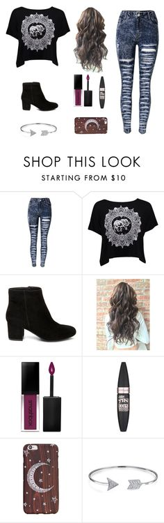 """""""Untitled #43"""" by remyhilpp ❤ liked on Polyvore featuring Boohoo, Steve Madden, Smashbox, Maybelline and Bling Jewelry"""