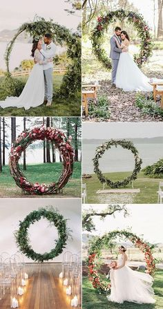 27 Rustic Wedding Decorations You Must Have A Look---Pretty Circular Wedding Arches for outdoor ceremony wedding arch 35 Rustic Wedding Decorations Wedding Ceremony Ideas, Diy Wedding Programs, Wedding Arch Rustic, Ceremony Backdrop, Wedding Events, Wedding Arches, Outdoor Ceremony, Outdoor Stage, Wedding Table