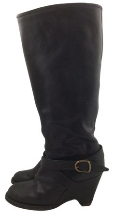 Fiorentini + Baker Fabulous Rare + Wedge Heel Black Boots. Get the must-have boots of this season! These Fiorentini + Baker Fabulous Rare + Wedge Heel Black Boots are a top 10 member favorite on Tradesy. Save on yours before they're sold out!