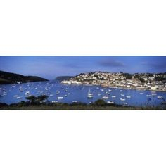 Town on an island Salcombe South Hams Devon England Canvas Art - Panoramic Images (36 x 12)