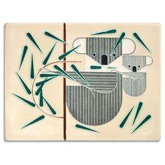 Leaves for Lunch - Charley Harper Motawi Tile