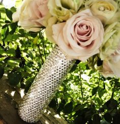 Bouquet Handle  Custom Made Crystal Bridal Bouquet by panachebride, $225.00