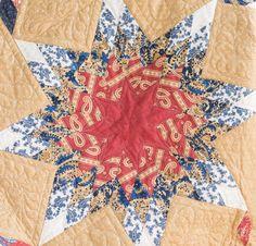 Moda Polka Dots and Paisley Stars Quilt - White