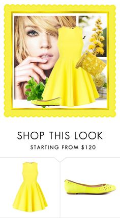 """Yellow"" by irnarenko ❤ liked on Polyvore featuring AQ/AQ, Sam Edelman and Rafe"