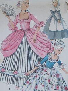 Vintage Halloween Costume Sewing Pattern 1954