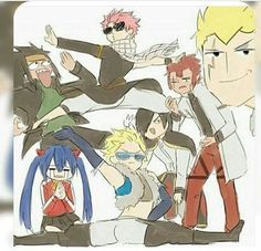 Fairy Tail, i love how every dragon slayer is here. Fairy Tail Sting, Fairy Tail Meme, Art Fairy Tail, Fairy Tail Amour, Fairy Tale Anime, Fairy Tail Comics, Fairy Tail Guild, Fairy Tales, Couples Fairy Tail