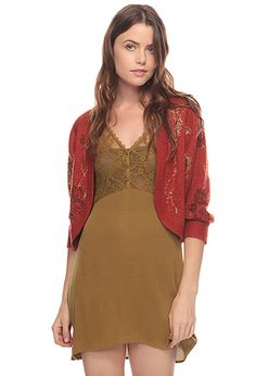 Metallic Roses Cardigan at Forever21.com - on SALE!