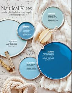 Source: Better Homes and Gardens Home Color: Nautical Blues Interior Paint Colors For Living Room, Paint Colors For Home, Paint Colours, Room Colors, Wall Colors, House Colors, Paint Color Schemes, Design Seeds, Color Swatches